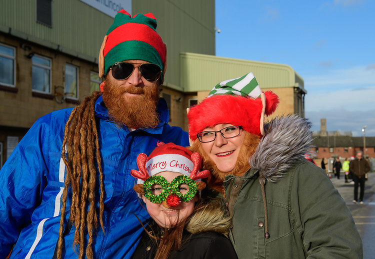 Lincoln City fans enjoy the pre-match atmosphere<br /> <br /> Photographer Chris Vaughan/CameraSport<br /> <br /> The EFL Sky Bet League Two - Lincoln City v Newport County - Saturday 22nd December 201 - Sincil Bank - Lincoln<br /> <br /> World Copyright © 2018 CameraSport. All rights reserved. 43 Linden Ave. Countesthorpe. Leicester. England. LE8 5PG - Tel: +44 (0) 116 277 4147 - admin@camerasport.com - www.camerasport.com