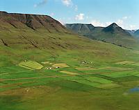 Hjaltastaðahvammur og Grænamýri, enn Hjaltastaðir og Hjalli fjær, Akrahreppur.Hjaltastadahvammur and Graenamyri, Akrahreppur.