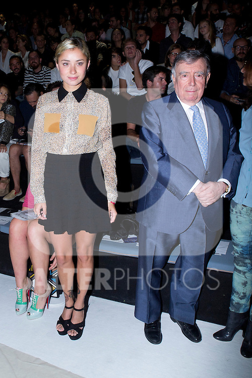 01.09.2012. Celebrities attending the David Delfin fashion show during the Mercedes-Benz Fashion Week Madrid Spring/Summer 2013 at Ifema. In the image Miranda Makaroff and Luis Maria Anson (Alterphotos/Marta Gonzalez)