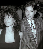 Ralph Macchio and Phyllis Fiero at the NY Premiere of Great Balls of Fire. June 26, 1989<br /> CAP/MPI/PHL/JB<br /> &copy;JB/PHL/MPI/Capital Pictures