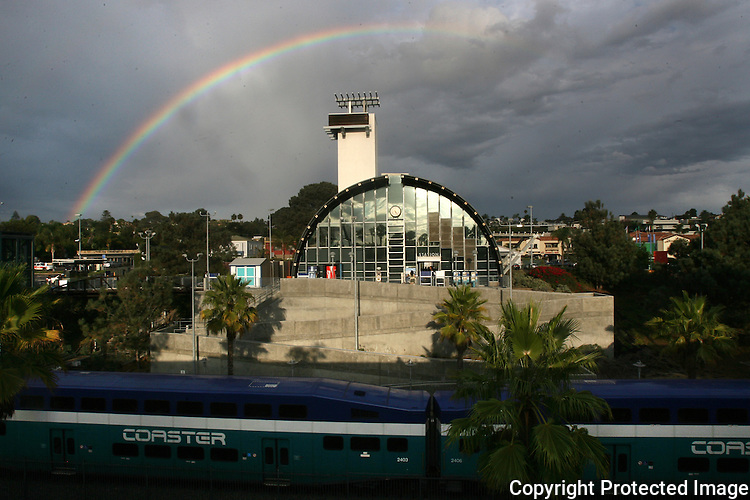 Solana Beach Train Rainbow