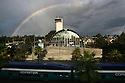 Solana Beach Train Rainbow