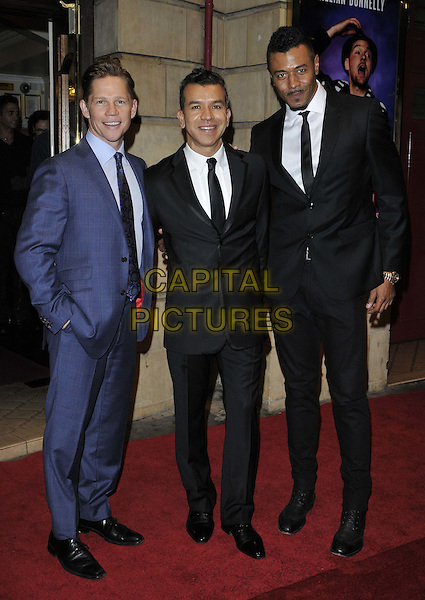 LONDON, ENGLAND - OCTOBER 23: Sergio Trujillo ( centre ) &amp; guests attend the &quot;Memphis&quot; press night performance, Shaftesbury Theatre, Shaftesbury Avenue, on Thursday October 23, 2014 in London, England, UK. <br /> CAP/CAN<br /> &copy;Can Nguyen/Capital Pictures