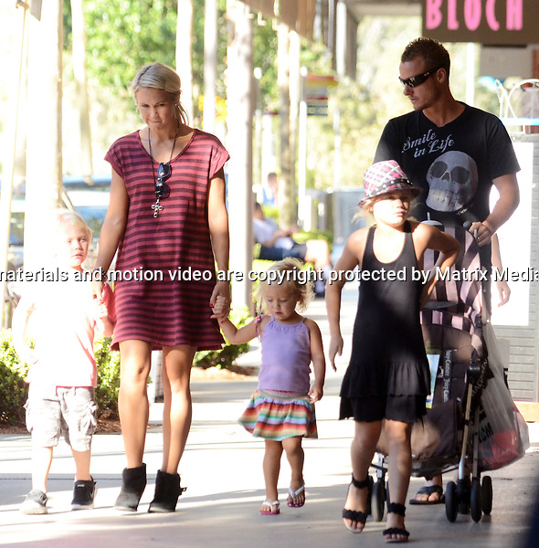 14 NOVEMBER  2013 SYDNEY AUSTRALIA<br /> <br /> EXCLUSIVE PICTURES<br /> <br /> Bec &amp; Lleyton Hewitt pictured with Mia, Cruz and Ava leaving a Rouse Hills shopping centre.<br /> <br /> *No internet without clearance*.<br /> MUST CALL PRIOR TO USE <br /> +61 2 9211-1088. <br /> <br /> Matrix Media Group.Note: All editorial images subject to the following: For editorial use only. Additional clearance required for commercial, wireless, internet or promotional use.Images may not be altered or modified. Matrix Media Group makes no representations or warranties regarding names, trademarks or logos appearing in the images.