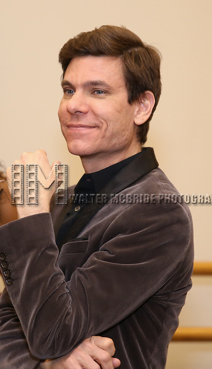 """Aaron Krohn attends the Meet & Greet for """"Summer: The Donna Summer Musical"""" on March 8, 2018 at the New 42nd Street Studios,  in New York City."""