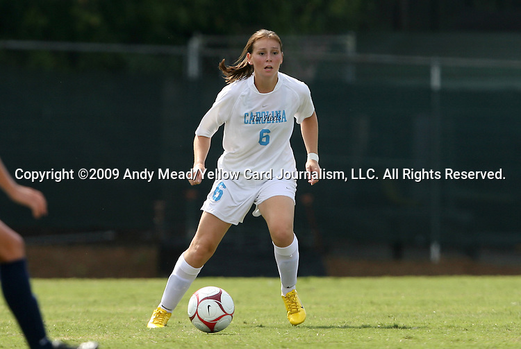 30 August 2009: North Carolina's Brittani Bartok. The University of North Carolina Tar Heels defeated the University of North Carolina Greensboro Spartans 1-0 at Fetzer Field in Chapel Hill, North Carolina in an NCAA Division I Women's college soccer game.