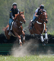 Steeplechasers train for the start of their season this weekend on April 19, 2012 at Fair Hill Natural Resources Area.