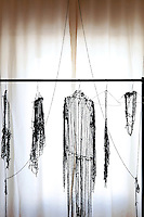 clothing rack with designer pieces