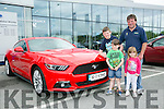 l-r  Jake White, Aaron White, Megan White and Eamon White From Kilmorna, Listowel. at the Kerry Motor Works Open Day on Saturday