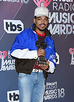 11 March 2018 - Inglewood, California - Chance the Rapper. 2018 iHeart Radio Awards - Press Room held at The Forum. <br /> CAP/ADM/BT<br /> &copy;BT/ADM/Capital Pictures