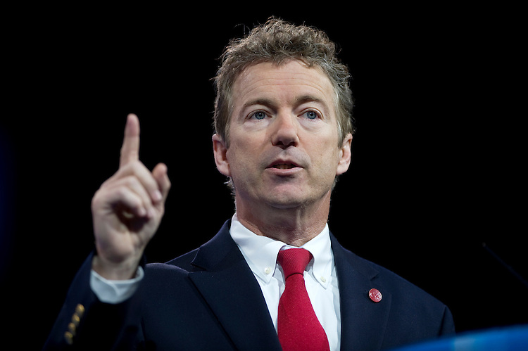 UNITED STATES - MARCH 13: Sen. Rand Paul, R-Ky., speaks at the 2013 Conservative Political Action Conference at the National Harbor.  (Photo By Chris Maddaloni/CQ Roll Call)
