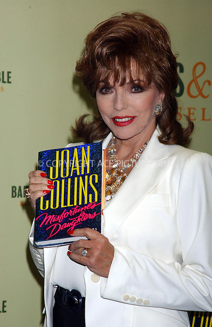 WWW.ACEPIXS.COM . . . . . ....NEW YORK, FEBRUARY 28, 2005....Joan Collins signs copies of her book 'Misfortune's Daughter' at Barnes and Noble Rockefeller Center.....Please byline: KRISTIN CALLAHAN - ACE PICTURES.. . . . . . ..Ace Pictures, Inc:  ..Philip Vaughan (646) 769-0430..e-mail: info@acepixs.com..web: http://www.acepixs.com