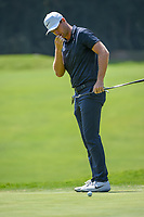 Lucas Bjerregaard (DEN) reacts to barely missing his putt on 12 during round 4 of the World Golf Championships, Mexico, Club De Golf Chapultepec, Mexico City, Mexico. 2/24/2019.<br /> Picture: Golffile | Ken Murray<br /> <br /> <br /> All photo usage must carry mandatory copyright credit (© Golffile | Ken Murray)