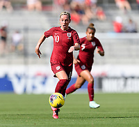 FRISCO, TX - MARCH 11: Jordan Nobbs #10 of England brings the ball up the field during a game between England and Spain at Toyota Stadium on March 11, 2020 in Frisco, Texas.