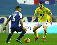Blackburn Rovers' Richard Smallwood and Wigan Athletic's Sam Morsy<br /> <br /> Photographer Rachel Holborn/CameraSport<br /> <br /> The EFL Sky Bet Championship - Wigan Athletic v Blackburn Rovers - Wednesday 28th November 2018 - DW Stadium - Wigan<br /> <br /> World Copyright © 2018 CameraSport. All rights reserved. 43 Linden Ave. Countesthorpe. Leicester. England. LE8 5PG - Tel: +44 (0) 116 277 4147 - admin@camerasport.com - www.camerasport.com