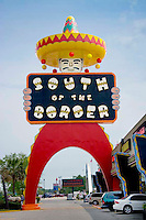 Color; Funny; Cultural; David Franck; Ethnic; Famous; Giant; Gift Shop; Historical; Vertical; Icon; Kitsch; Mexican; Retro; Roadside America; Satire; South Carolina; Strange; Symbol; Tourist Attraction; Travel; USA; Dillon; South of the Border; Sign