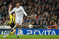 Cristiano Ronaldo pursuing by defender