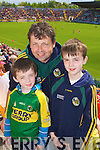 Kerry Fans Darren, Padraig and Keith Denil, Farranfore at the Munster Semi-Final Replay at Park Ui Caoimh on Sunday