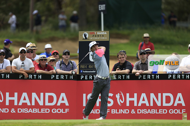 Thorbjorn Olesen (DEN) on the 6th tee during Round 3 of the ISPS HANDA Perth International at the Lake Karrinyup Country Club on Saturday 25th October 2014.<br /> Picture:  Thos Caffrey / www.golffile.ie