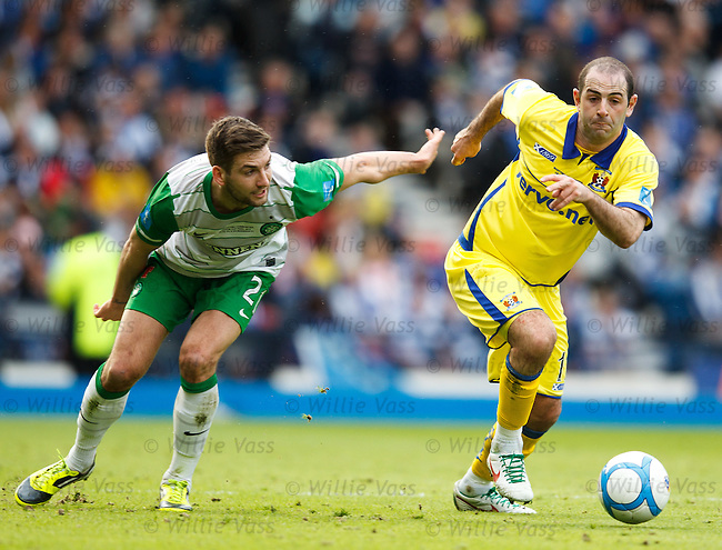 Gary Harkins steps away from Charlie Mulgrew