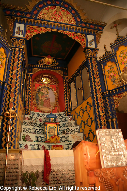 Altar of the Mor Petrus Mor Paulus Church, Adiyaman, southeastern Turkey