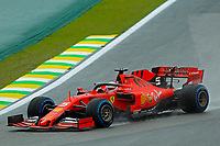 15th November 2019; Autodromo Jose Carlos Pace, Sao Paulo, Brazil; Formula One Brazil Grand Prix, Practice Day; Sebastian Vettel (GER) Scuderia Ferrari SF90 - Editorial Use