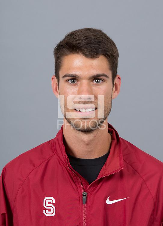 STANFORD, CA - SEPTEMBER 24, 2014--Garrett Sweatt, with Stanford University Cross Country Team