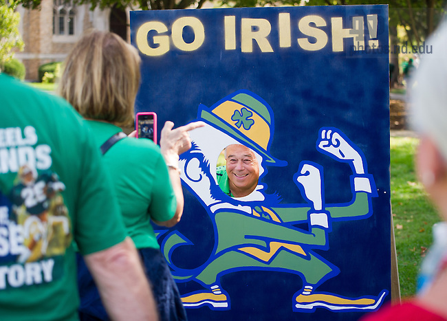 Sept. 28, 2013; Fans on South Quad before the game against Oklahoma.<br /> <br /> Photo by Matt Cashore/University of Notre Dame