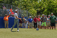 Tommy Fleetwood (ENG) watches his tee shot on 10 during Round 2 of the Zurich Classic of New Orl, TPC Louisiana, Avondale, Louisiana, USA. 4/27/2018.<br /> Picture: Golffile | Ken Murray<br /> <br /> <br /> All photo usage must carry mandatory copyright credit (&copy; Golffile | Ken Murray)