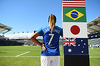 Carson, CA - Thursday August 03, 2017: Gabi Nunes prior to a 2017 Tournament of Nations match between the women's national teams of Australia (AUS) and Brazil (BRA) at the StubHub Center.