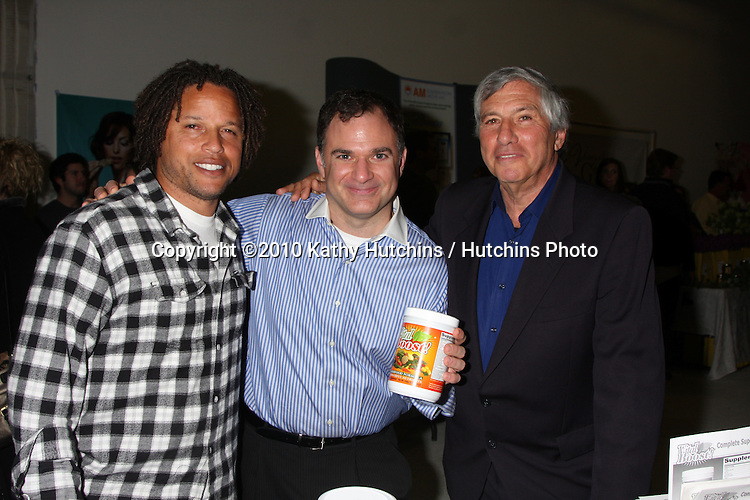 LOS ANGELES - NOV 20:  Cobi Jones, Gil R. Tatarsky, Victor Zeines at the Connected's Celebrity Gift Suite celebrating the 2010 American Music Awards at Ben Kitay Studios on November 20, 2010 in Los Angeles, CA
