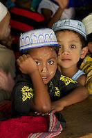 Morning Muslim school class in Hpa An, Myanmar, Burma