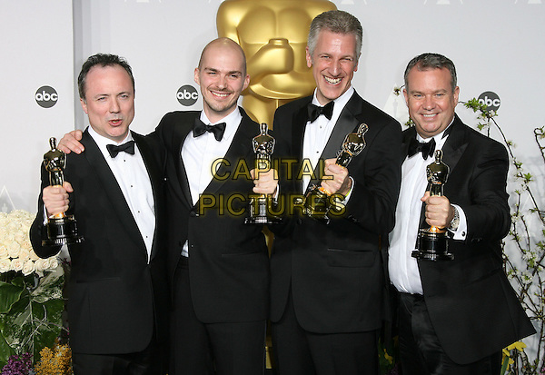 02 March 2014 - Hollywood, California - Tim Webber, Chris Lawrence, David Shirk, Neil Corbould. 86th Annual Academy Awards held at the Dolby Theatre at Hollywood &amp; Highland Center. <br /> CAP/ADM<br /> &copy;AdMedia/Capital Pictures