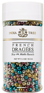 10712 Multi-Pastel Dragées, Small Jar 3.3 oz, India Tree Storefront
