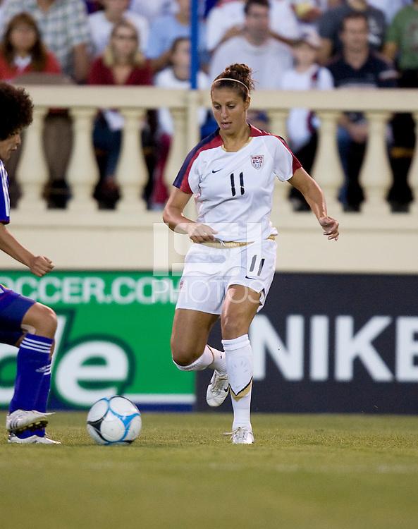 Carli Lloyd dribbles. USA defeated Japan 4-1 at Spartan Stadium in San Jose, CA on July 28, 2007.