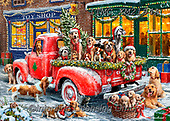 Marcello, CHRISTMAS ANIMALS, WEIHNACHTEN TIERE, NAVIDAD ANIMALES, paintings+++++,ITMCXM2194A,#xa#,pickup,golden retrievers