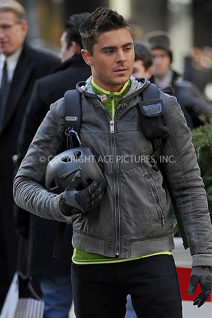 WWW.ACEPIXS.COM . . . . . .February 23, 2011...New York City... Zac Efron on the set of New Years Eve on February 23, 2011 in New York City....Please byline: KRISTIN CALLAHAN - ACEPIXS.COM.. . . . . . ..Ace Pictures, Inc: ..tel: (212) 243 8787 or (646) 769 0430..e-mail: info@acepixs.com..web: http://www.acepixs.com .