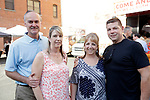 Waterbury, CT- 19 May 2017-051917CM14- SOCIAL MOMENTS-- From left, Douglas and Megan Johnson with Cheri and Ted Barrett all of Cheshire, are photographed  during the Palace Theater's Palace 10.2: City Lights, City Nights celebration.  Christopher Massa Republican-American