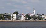 Historic Charleston Battery Row in Downtown Charleston South Carolina White Point Gardens