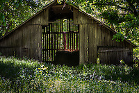 An old barn in the Boxley Valley area on the Buffalo National River in Arkansas.