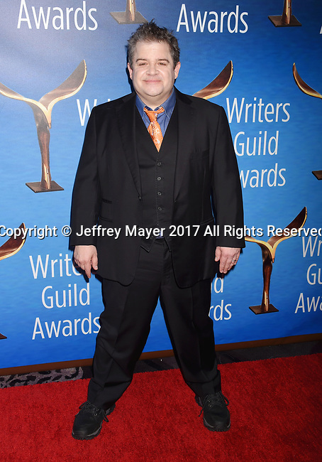 BEVERLY HILLS, CA - FEBRUARY 19: Actor/comedian Patton Oswalt attends the 2017 Writers Guild Awards L.A. Ceremony at The Beverly Hilton Hotel on February 19, 2017 in Beverly Hills, California.