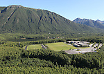 Mirror Lake Middle School, Chugiak, Alaska. Aerial photogaph
