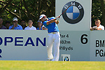 Gareth Maybin tees off from the par 4 6th tee during Round 3 of the BMW PGA Championship at  Wentworth, Surrey, England, 22nd May 2010...Photo Golffile/Eoin Clarke.(Photo credit should read Eoin Clarke www.golffile.ie)....This Picture has been sent you under the condtions enclosed by:.Newsfile Ltd..The Studio,.Millmount Abbey,.Drogheda,.Co Meath..Ireland..Tel: +353(0)41-9871240.Fax: +353(0)41-9871260.GSM: +353(0)86-2500958.email: pictures@newsfile.ie.www.newsfile.ie.