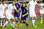 Cristiana Girelli (ITA), Homare Sawa (JPN), <br /> MAY 28, 2015 - Football / Soccer : Kirin Challenge Cup 2015 match between Womens Japan and Womens Italy at Minami Nagano Sports Park, Nagano, Japan. <br /> (Photo by AFLO) [2268]