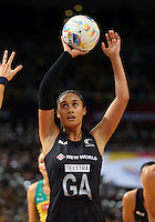 16.08.2015 Silver Ferns Maria Tutaia in action during the Silver Ferns v Australia Gold Medal netball match at the 2015 Netball World Cup at All Phones Arena in Sydney Australia. Mandatory Photo Credit ©Michael Bradley.