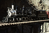 Fireman's-side view of D&amp;RGW #278 displayed on the Cimarron River Bridge at Cimarron.<br /> D&amp;RGW  Cimarron, CO