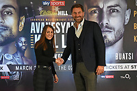 Ellie Scotney and Eddie Hearn during a Press Conference at Glaziers Hall on 14th February 2020