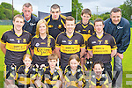 Dr Crokes GAA club in Killarney are the first club in the county to offer their underage players club boots with their club crest on them ..Eva Quinn, Mark Cooper, Ava Sheehan, Mark Clifford. Middle row: Andrew Kennelly, Lynn Jones, Luke Quinn and Kieran O'Leary. Back row: Anthony Moriarty rclub sportswear, Michael O'Keeffe, Michael Lenihan and Martin McKivergan rclub sportswear..