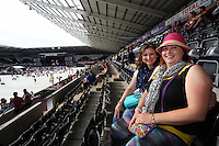 Pictured: Revellers Robyn Hague. Wednesday 02 July 2014<br /> Re: Kings of Leon at the Liberty Stadium, Swansea, south Wales.