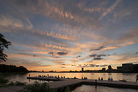 Esplanade sunset, Boston, MA Charles River